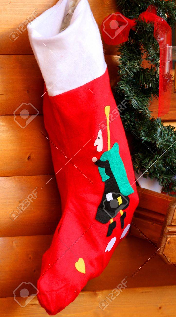 Stockings Of The Befana In Wall Hanging Waiting For Epiphany
