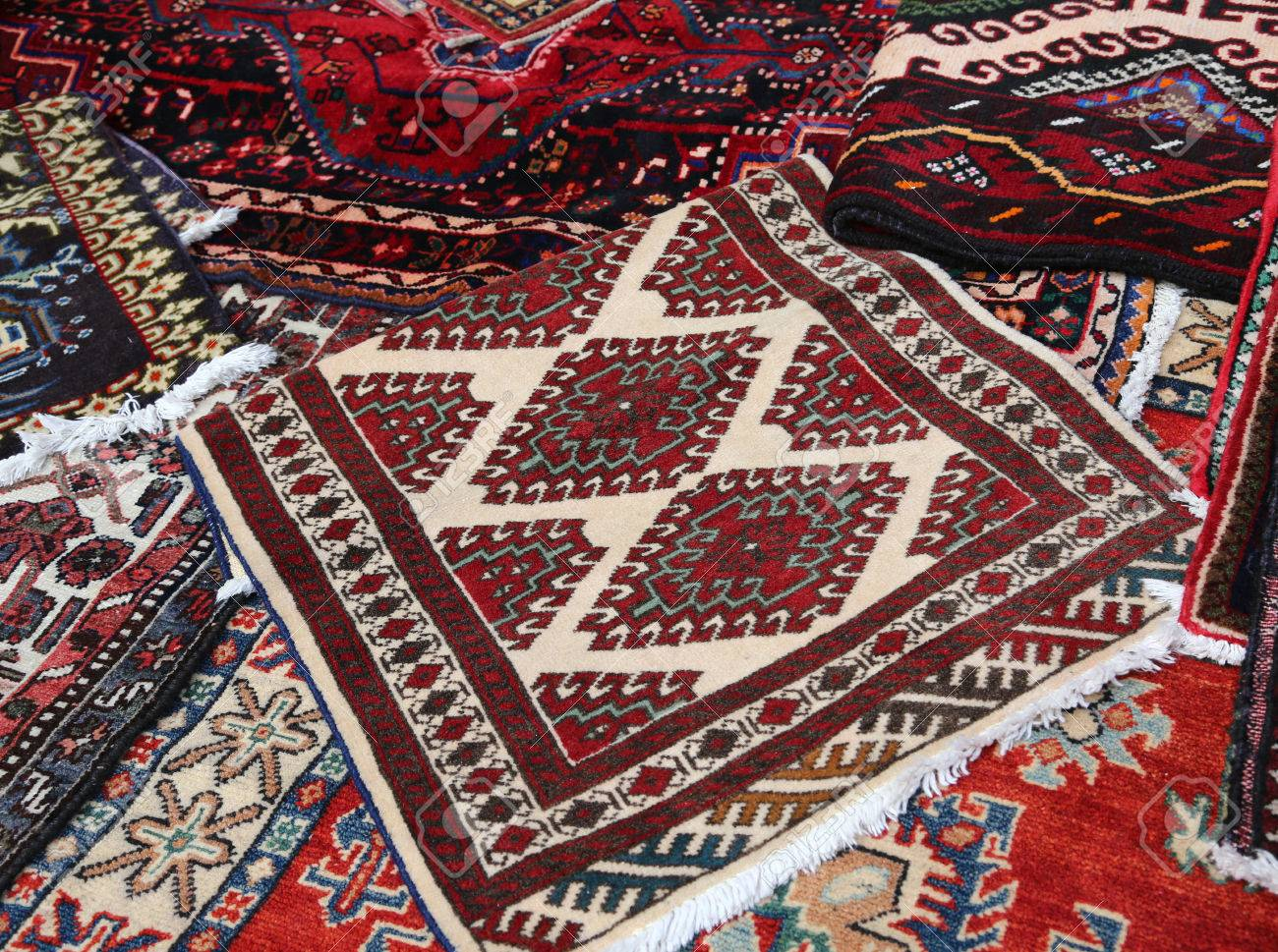 Oriental Rugs Handmade Wool For Sale In The Shop Of Fine Rugs Stock Photo    35216916