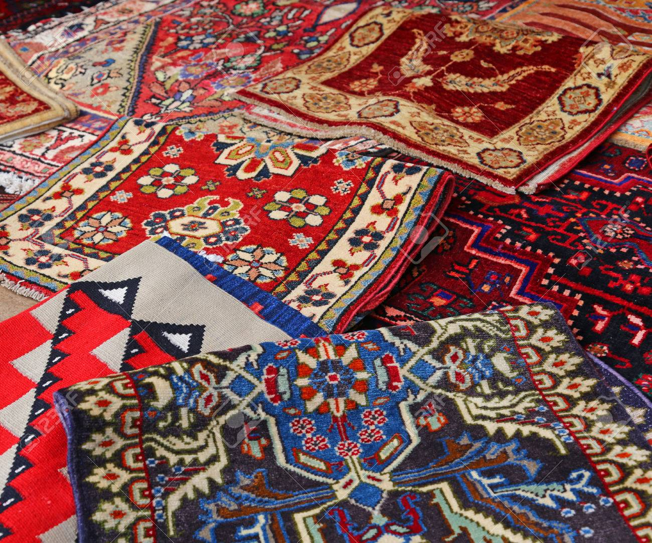 Oriental Rugs Handmade Wool For Sale In The Shop Of Fine Rugs Stock Photo    35216917