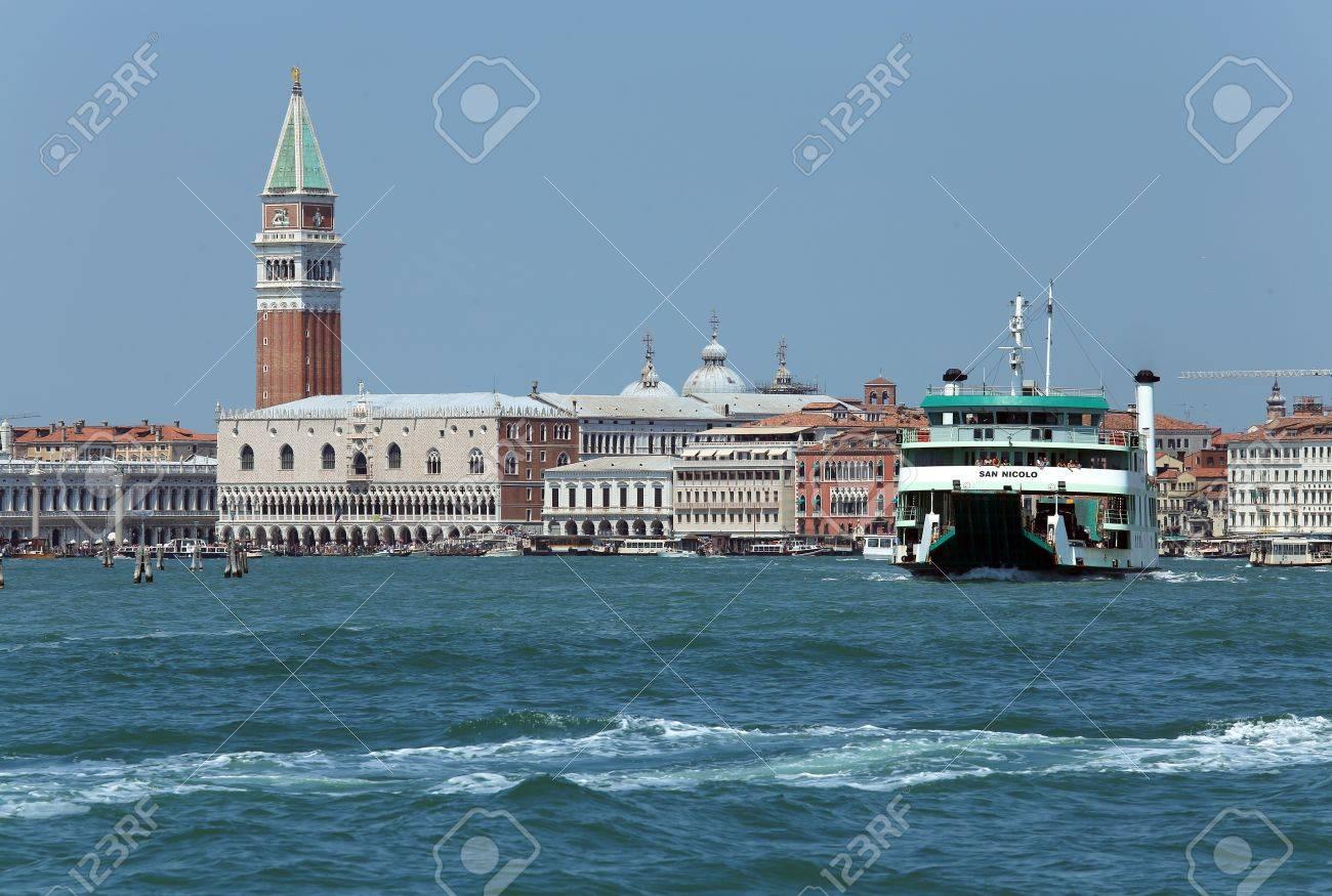 Venice, VE - Italy. 14th July, 2015: Ferry Of ACTV Company Of ...
