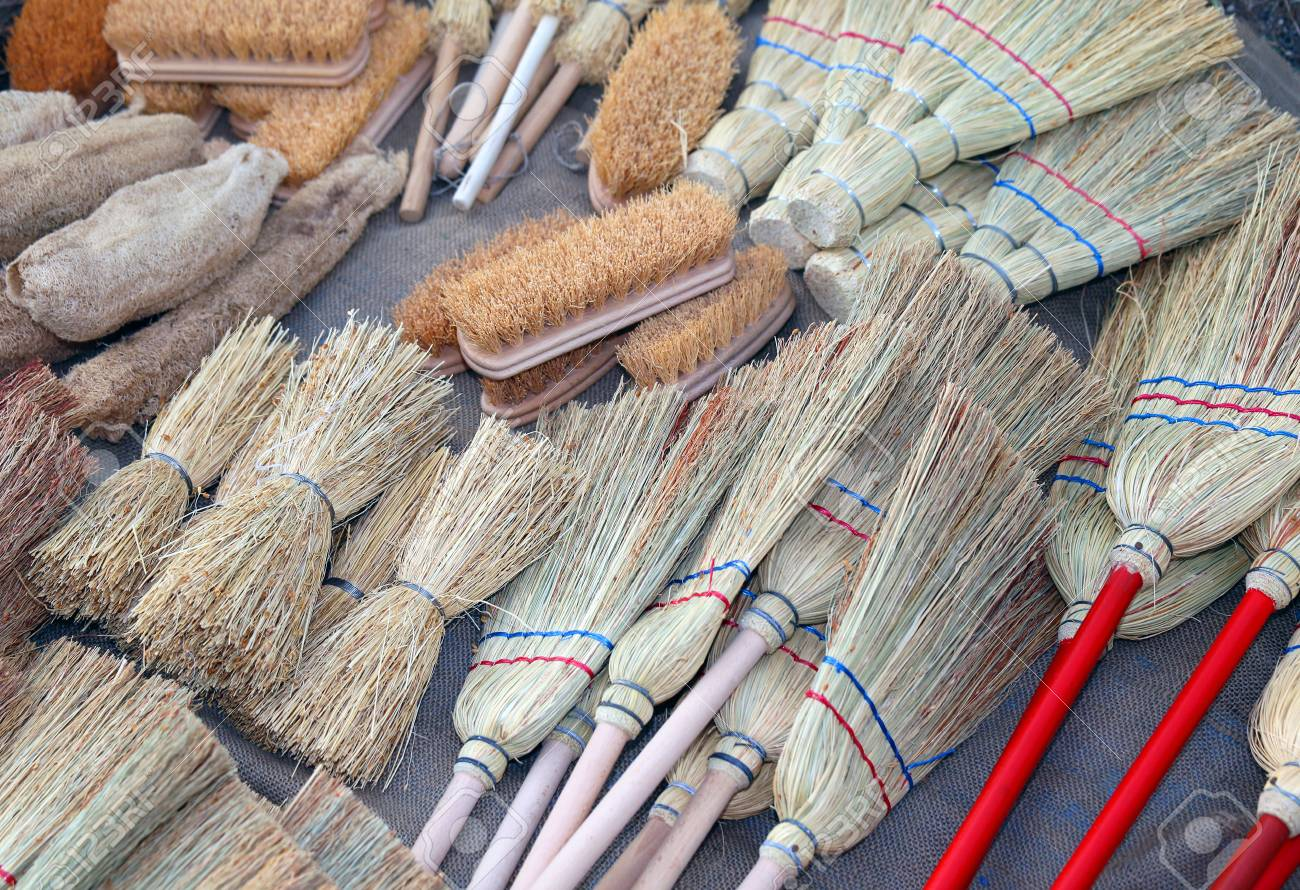 Local Market Tool >> Brooms And Brushes Of Sorghum In Local Market Stock Photo Picture