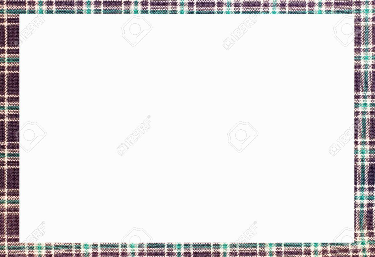 TARTAN Nice Frame With Blanck Space To Write Your Text Stock Photo ...