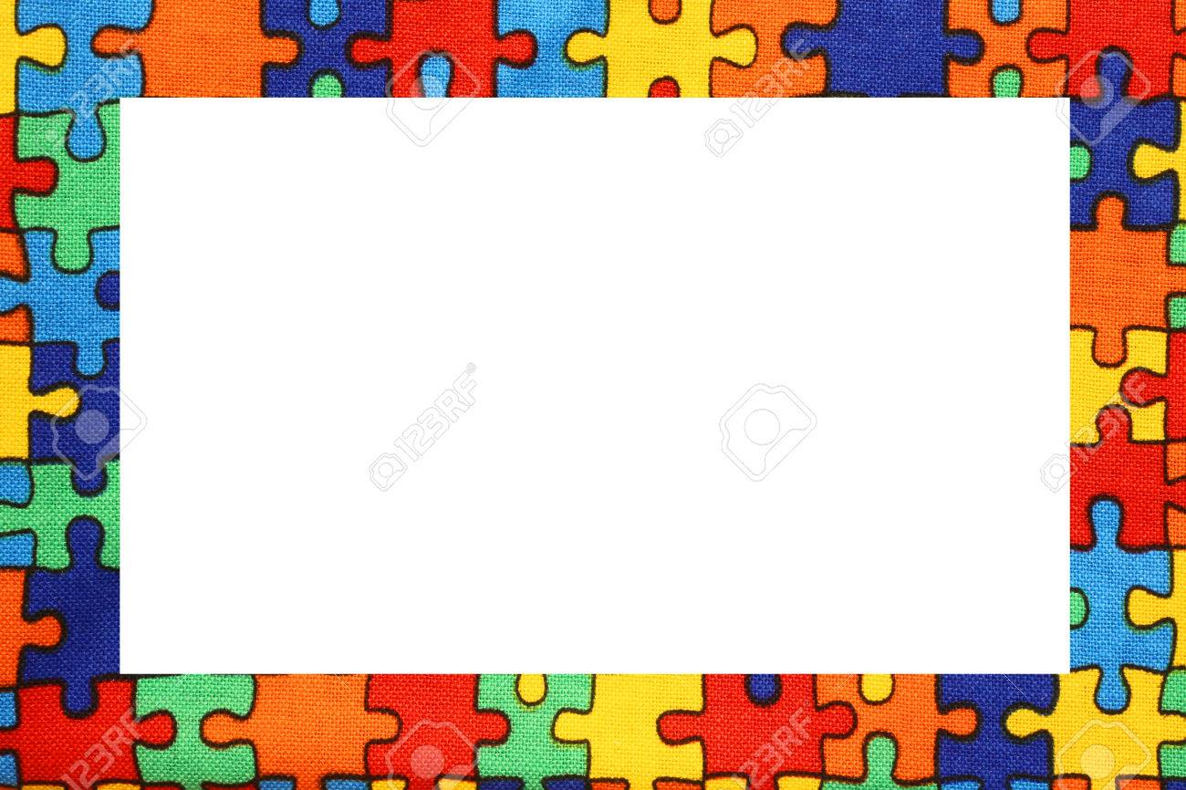 puzzle nice frame with blanck space to write your text