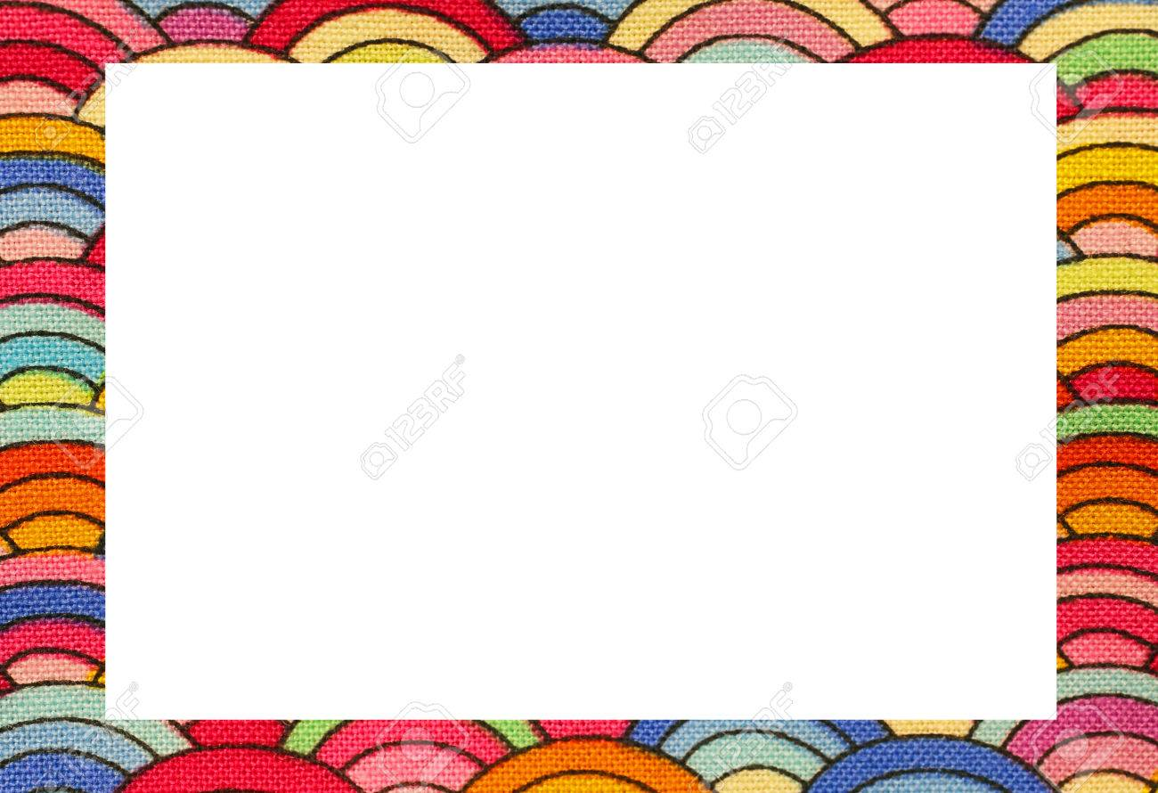 rainbow nice frame with blanck space to write your text