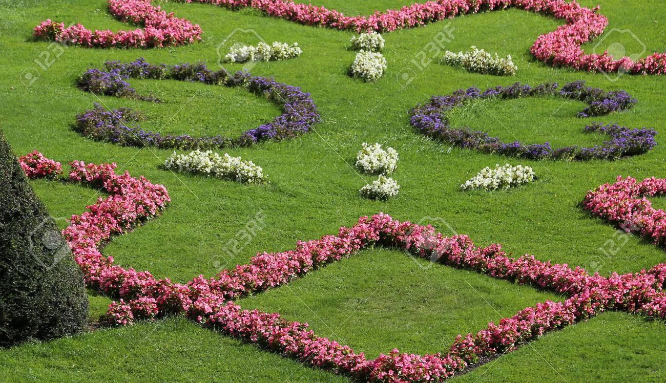 Beautiful Flower Beds And Well Tended By The Gardener Stock Photo, Picture  And Royalty Free Image. Image 69914400.