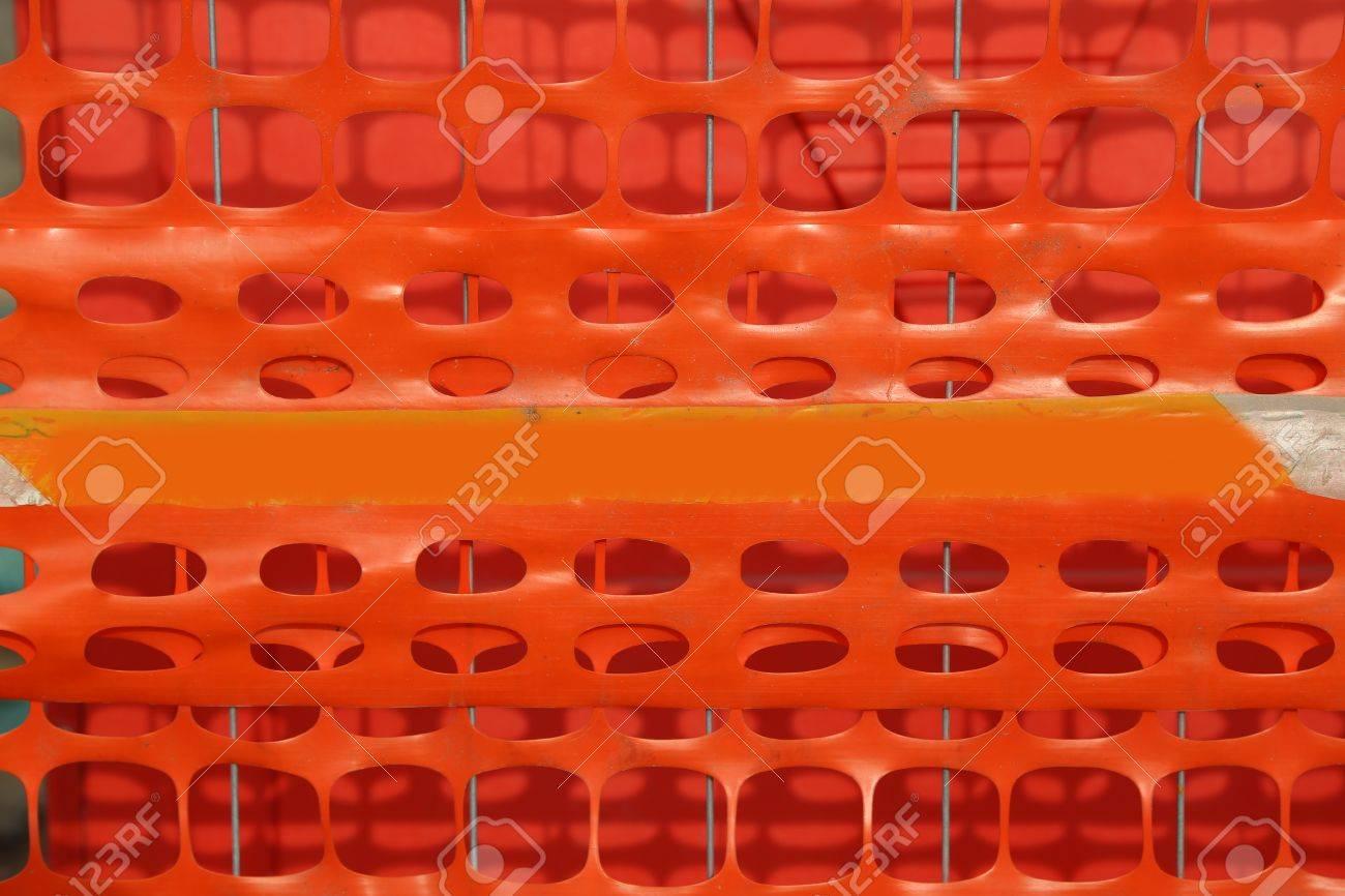 Rete In Plastica Per Cantiere.Immagini Stock Rete Di Sicurezza Arancione In Plastica Per