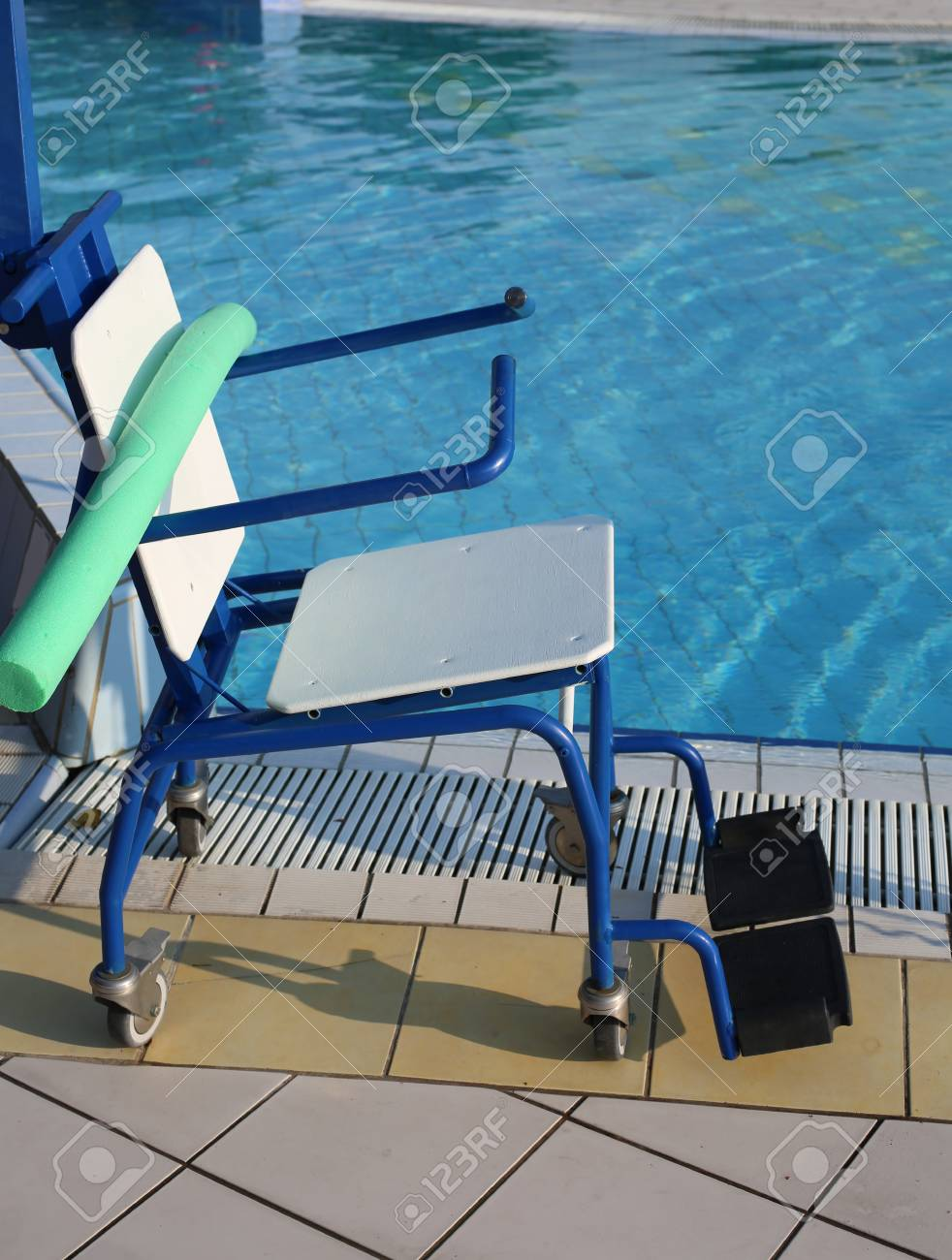 Special Wheelchair To Enter The Swimming Pool For Rehabilitative ...