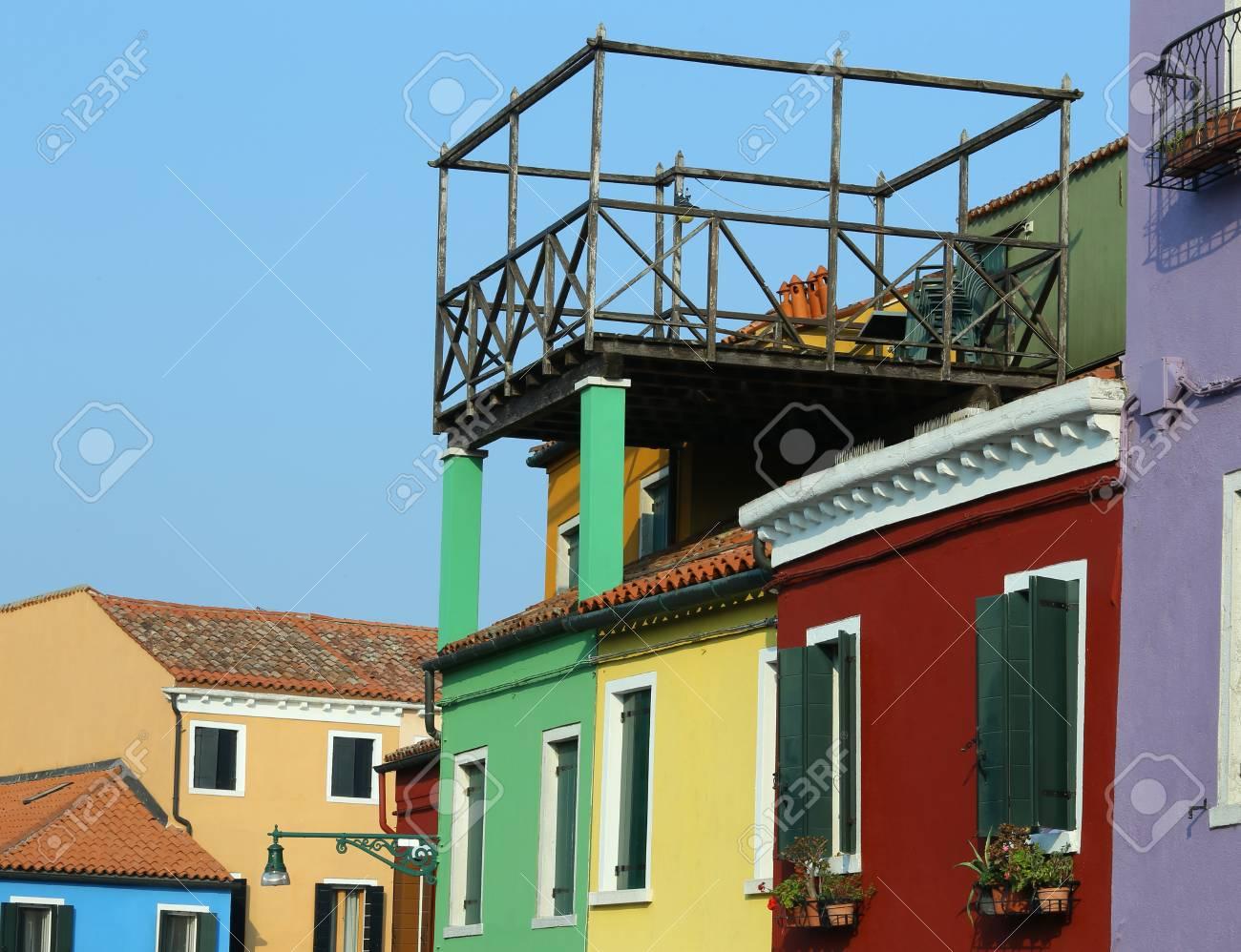 Gran Terraza También Llamada Altana En Idioma Italiano Sobre El Techo De La Casa Veneciana En El Norte De Italia