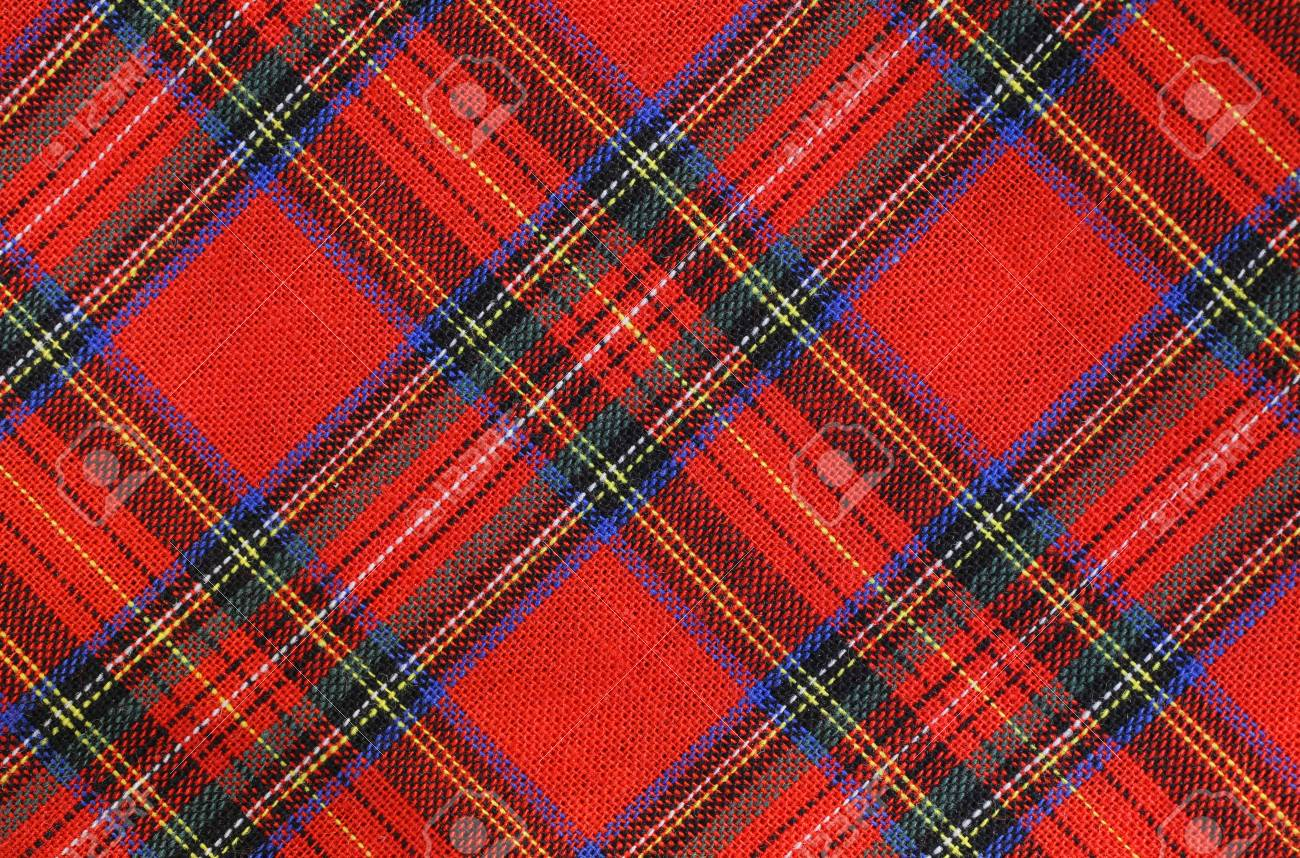 Background Of Fabric With Red And Green Tartan Type Scottish Stock Photo Picture And Royalty Free Image Image 88974057