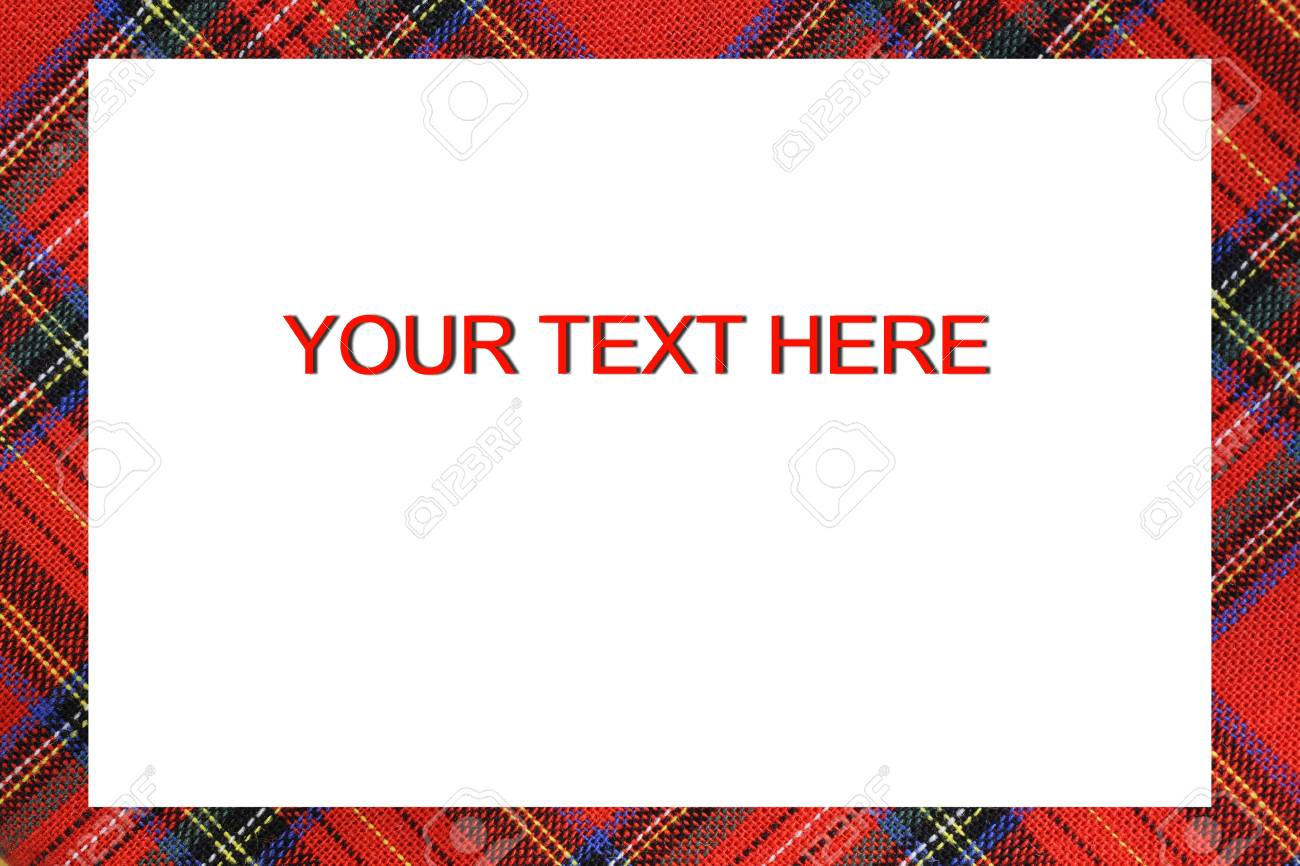 Bordered Frame With Tartan Type Scottish Designs And Text To.. Stock ...