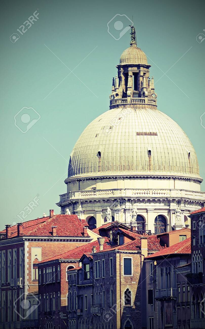 Very Wide Dome Of The Basilica Called Madonna Della Salute In.. Stock  Photo, Picture And Royalty Free Image. Image 147157667.