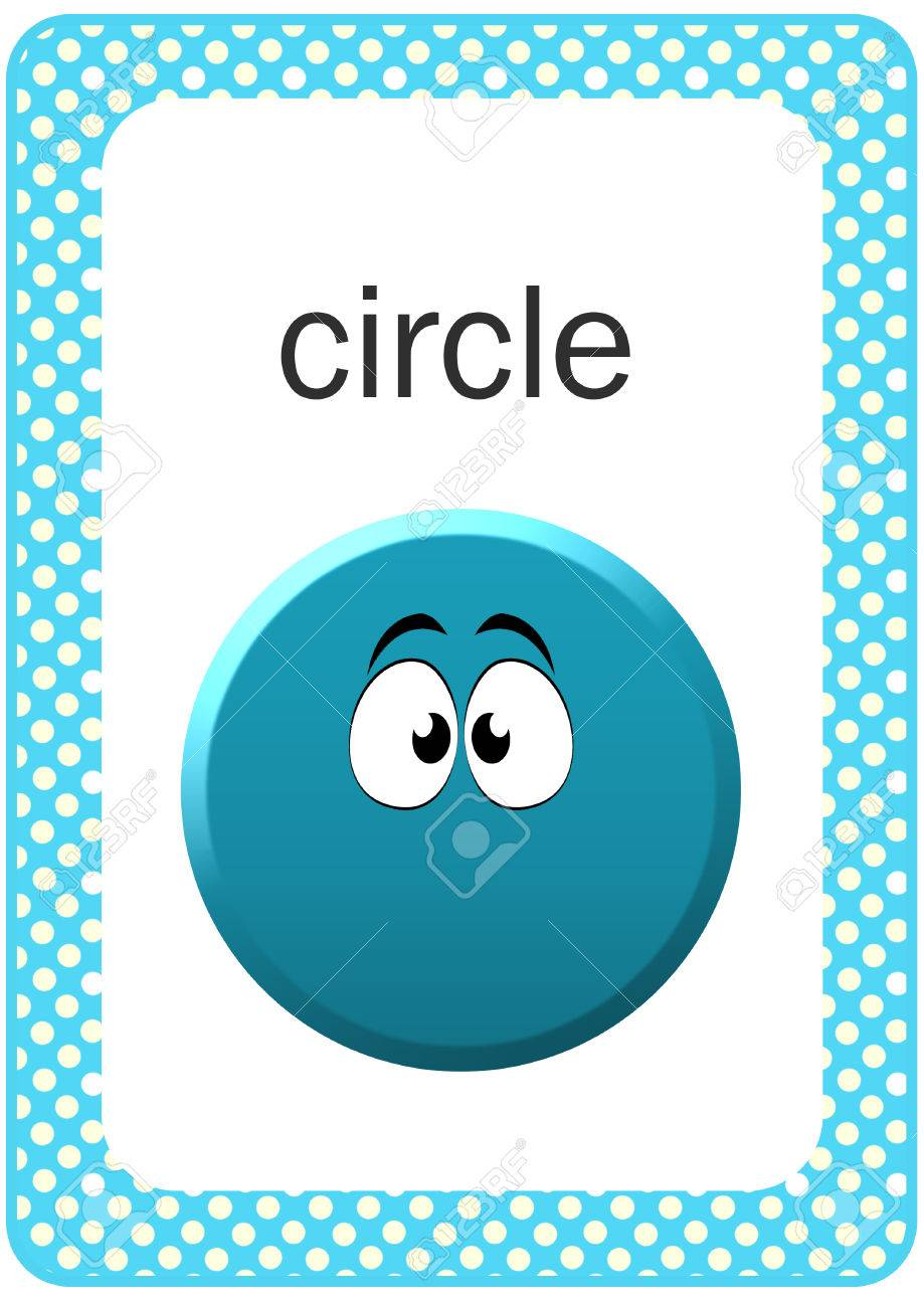 picture relating to Printable Shape Flash Cards called Printable Boy or girl Condition Flash card - Circle