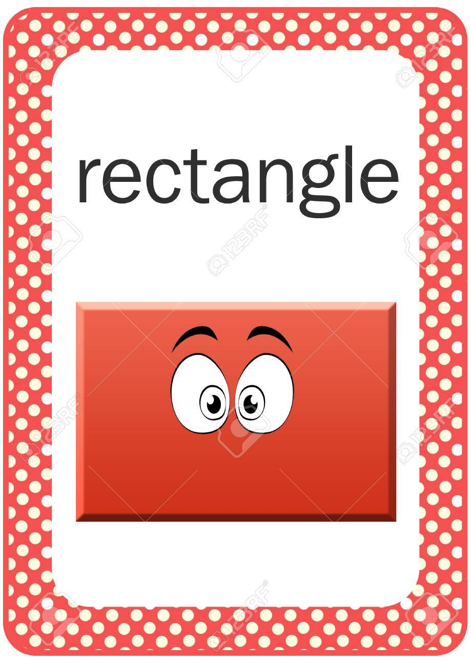 picture about Printable Shapes Flash Cards called Printable Youngster Form Flash card - Rectangle