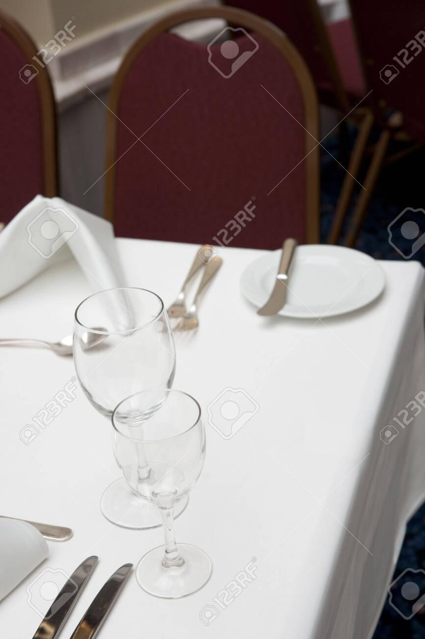 Table arrangement in expensive restaurant Stock Photo - 5883615