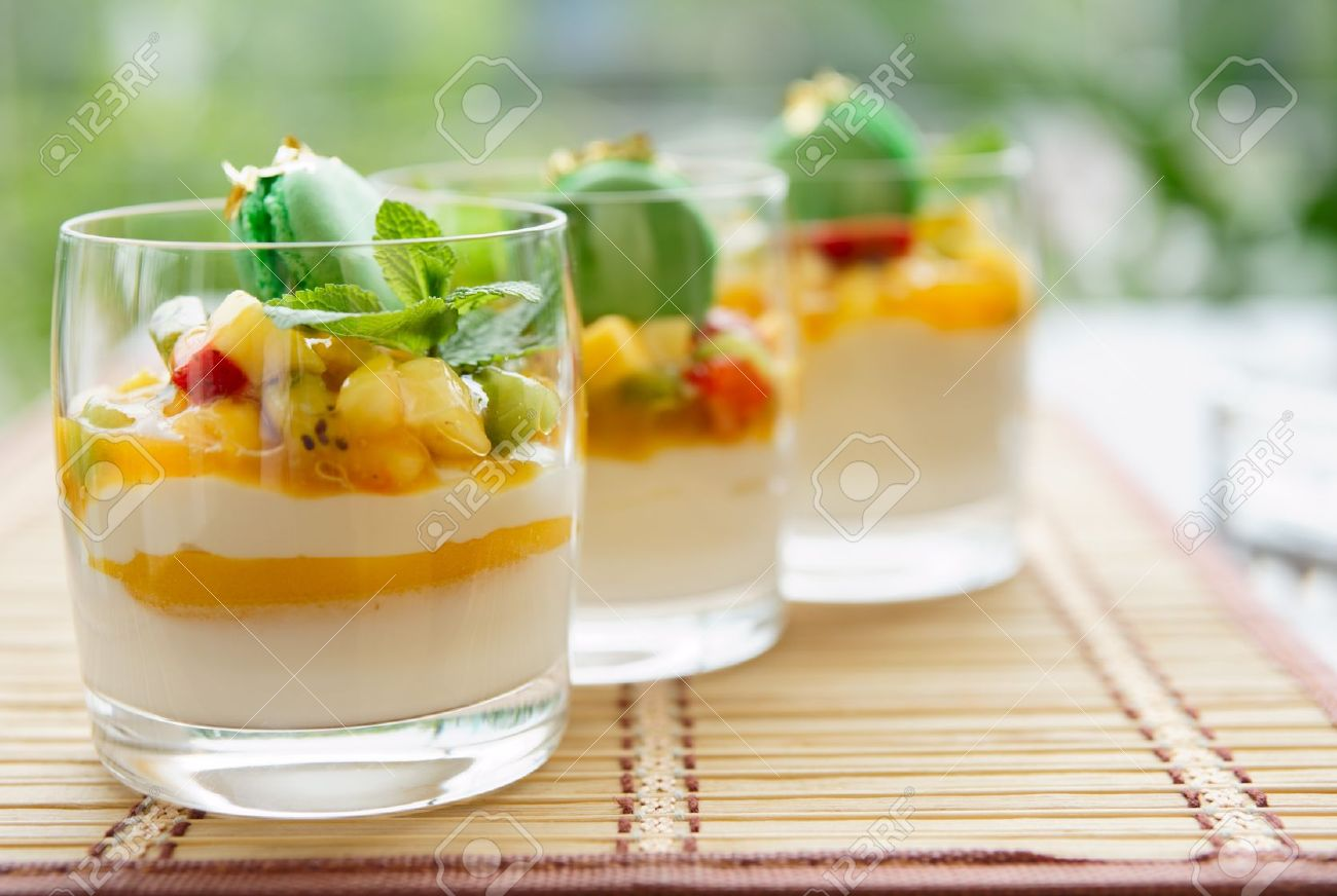 Three fruit cocktails in a summer restaurant lounge Stock Photo - 8095880