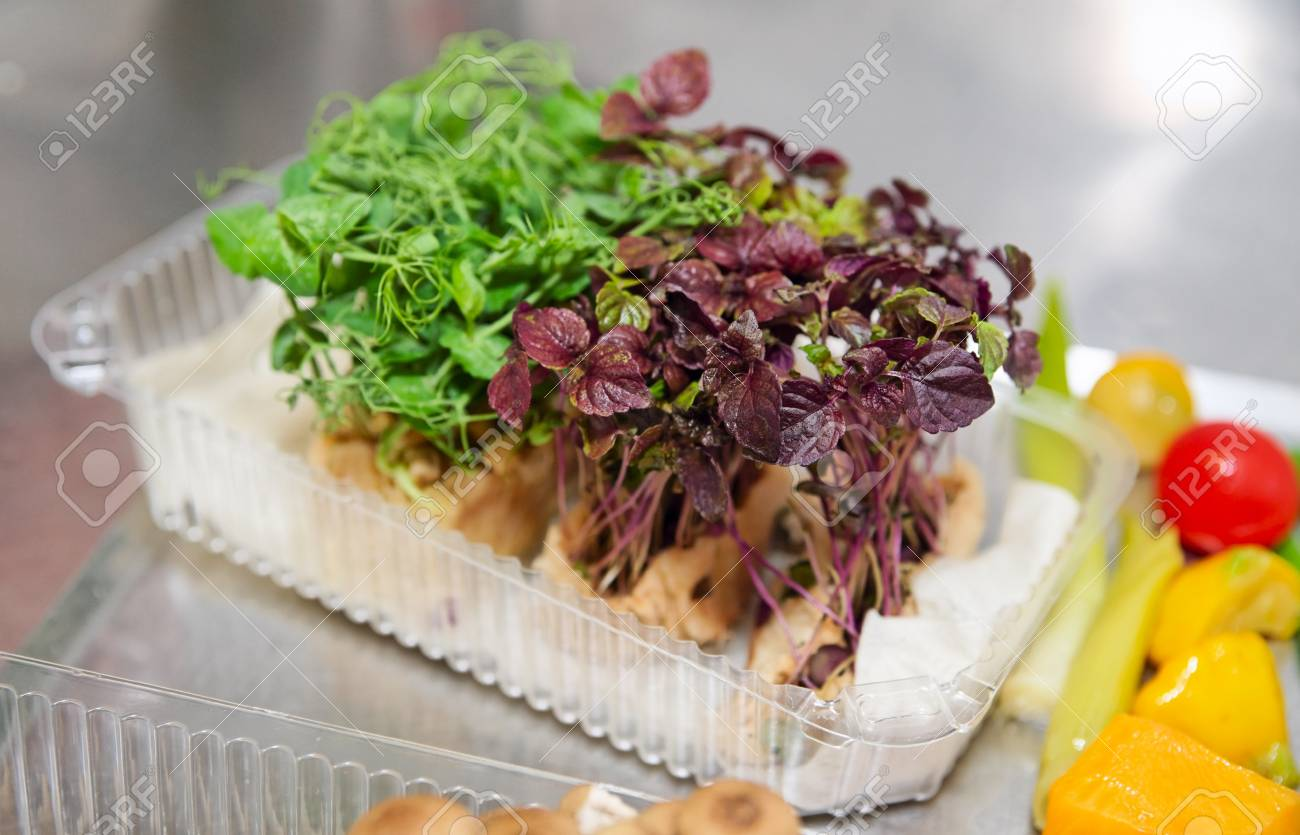 Lettuce on restaurant kitchen used for decorating dishes Stock Photo - 13318210