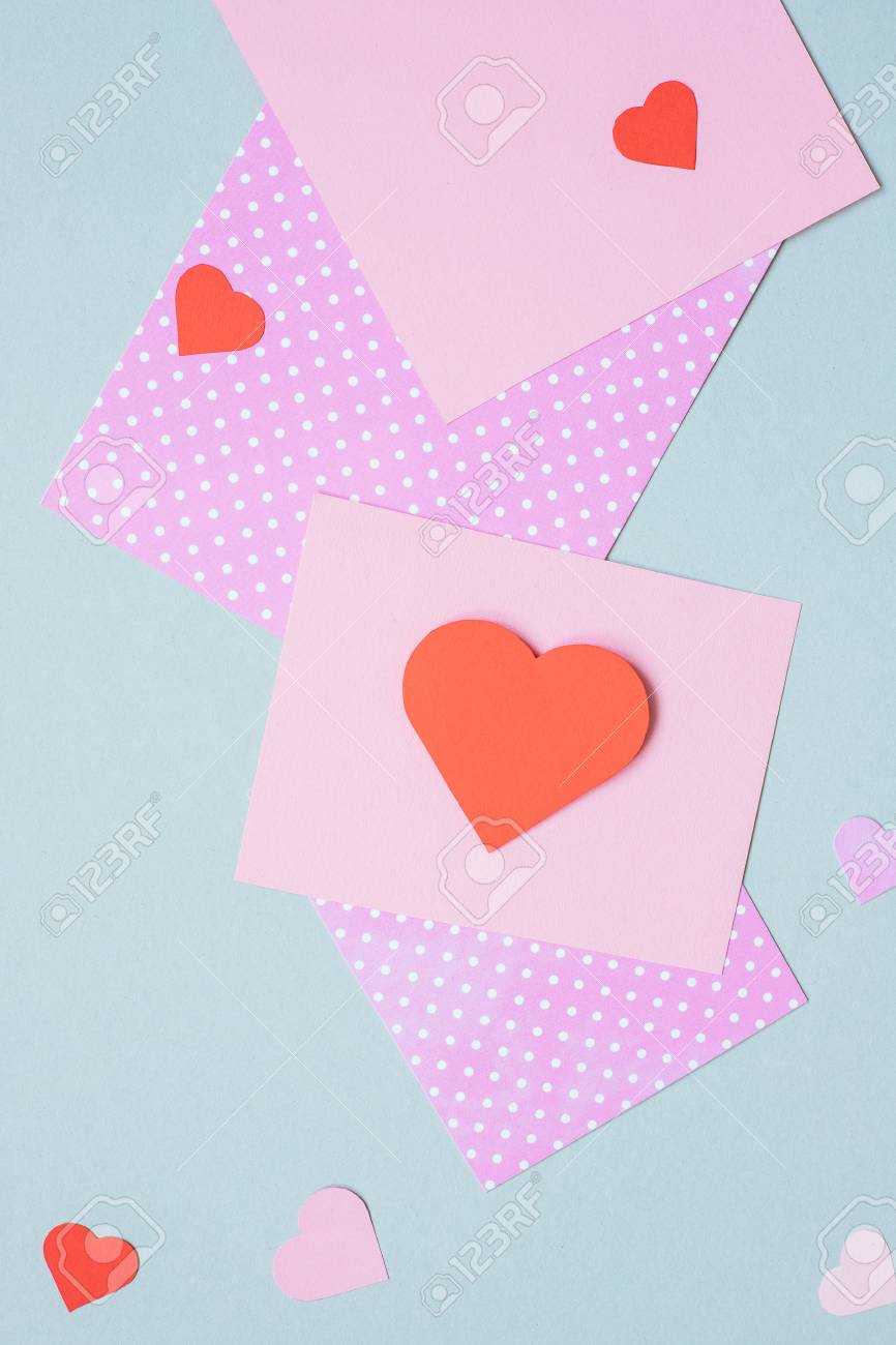 Valentines Day Background Valentine Card With Heart And Craft