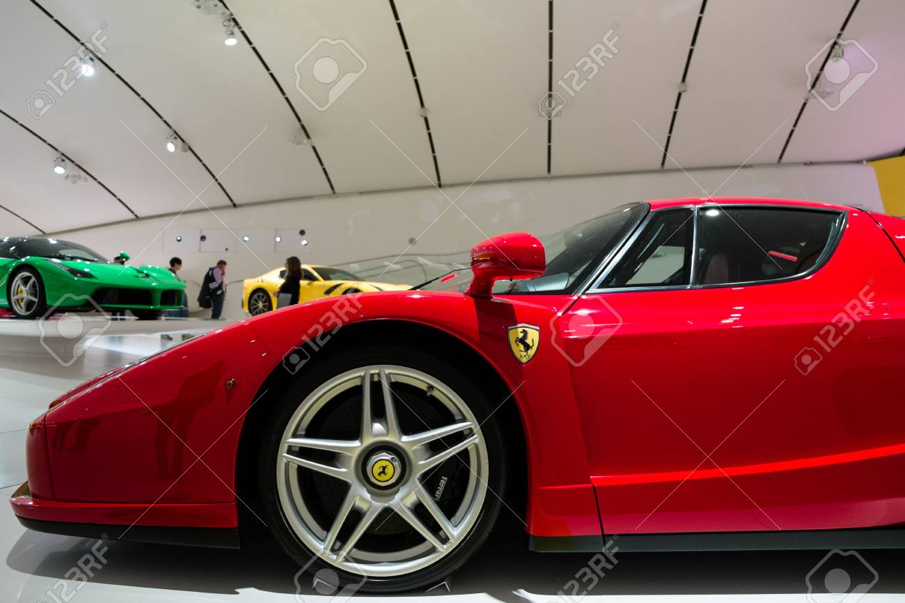 Modena Italy May 2017 Museum Enzo Ferrari Exhibit A Ferrari Stock Photo Picture And Royalty Free Image Image 91927370