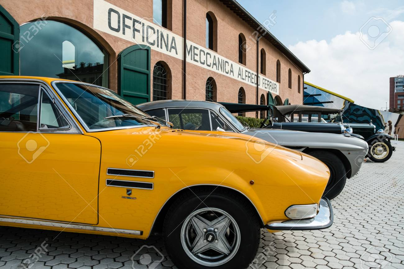 Modena Italy March 2018 Classic And Vintage Cars On Display Stock Photo Picture And Royalty Free Image Image 111808564