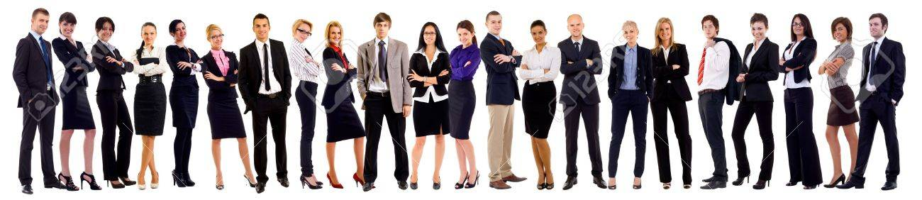 Successful happy business team, isolated on white Stock Photo - 8198553