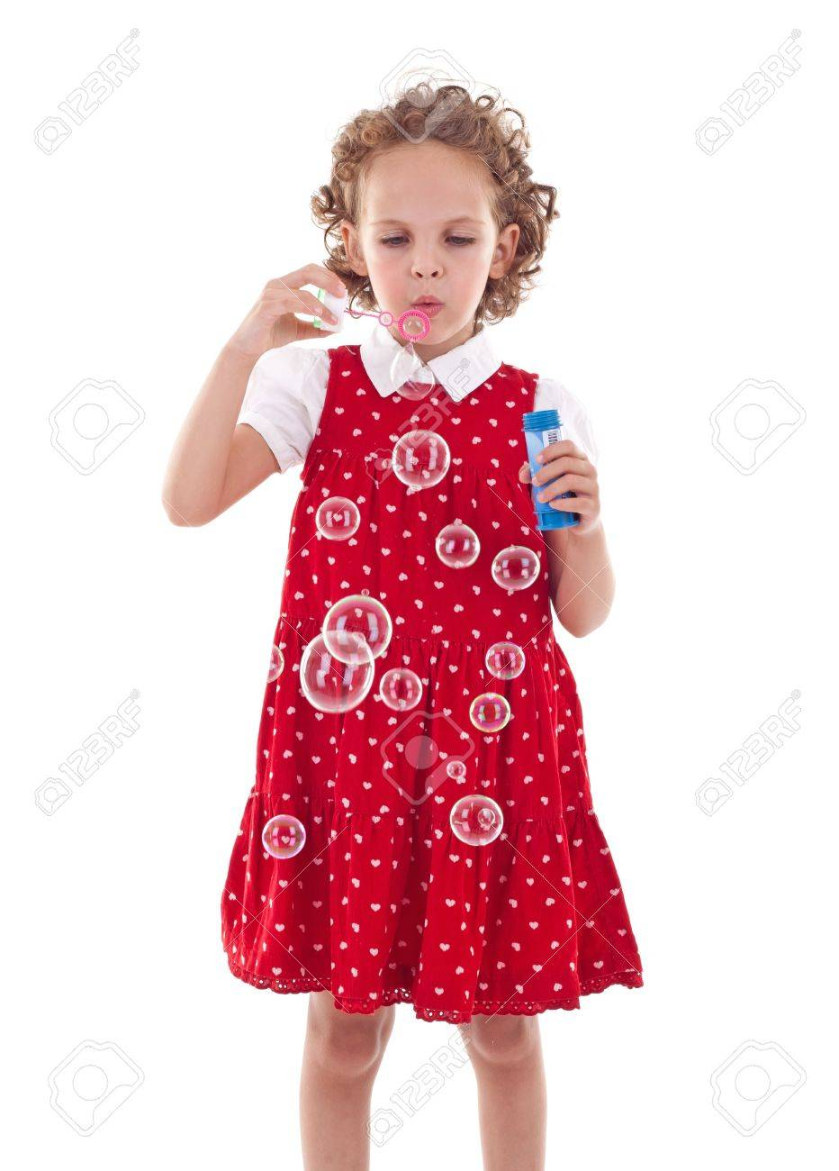 Red Dress Making Water