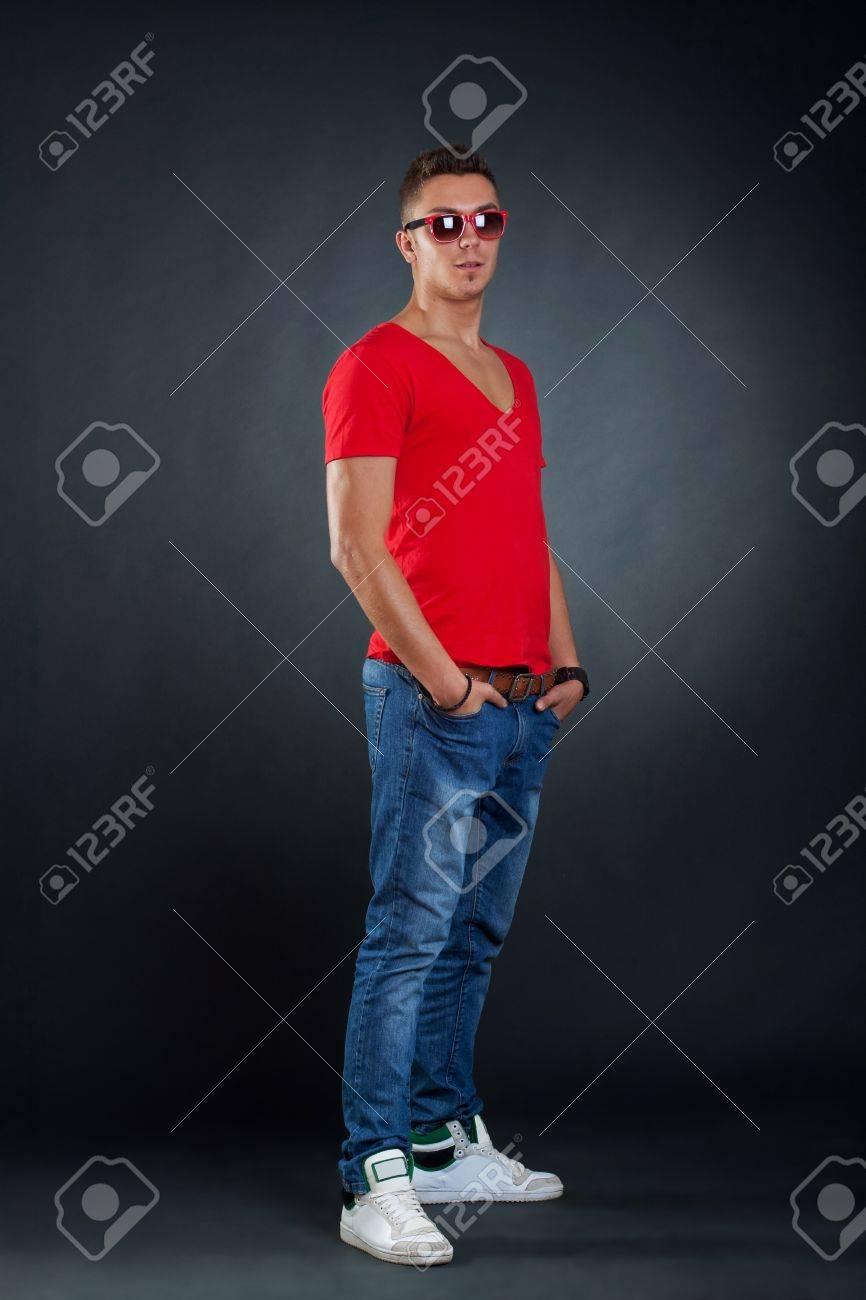 Picture of a very stylish young man, posing for the camera Stock Photo - 9526046