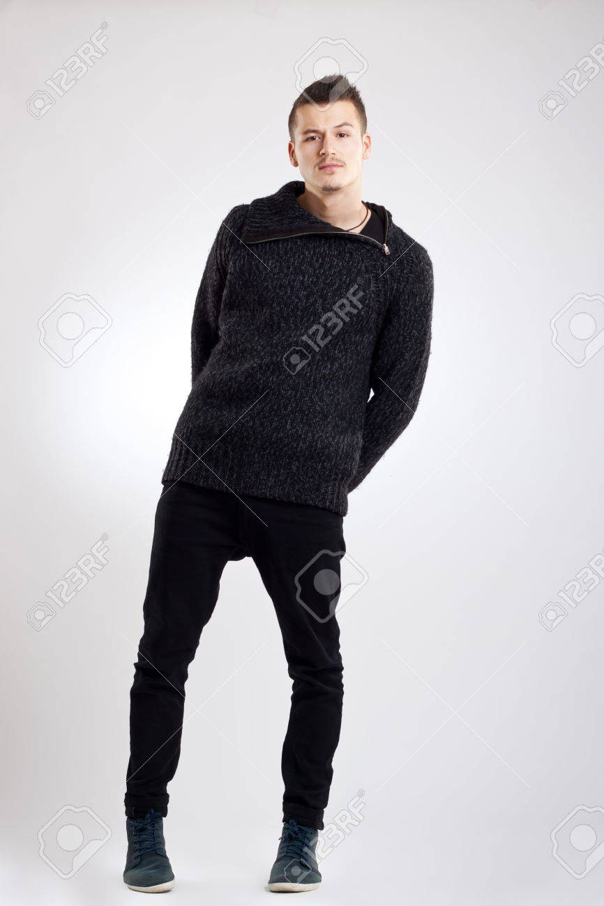 young man full body in the studio Stock Photo - 10933565