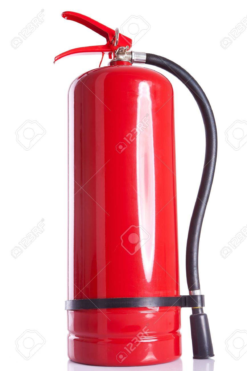 picture of a fire  extinguisher on white background Stock Photo - 13822794