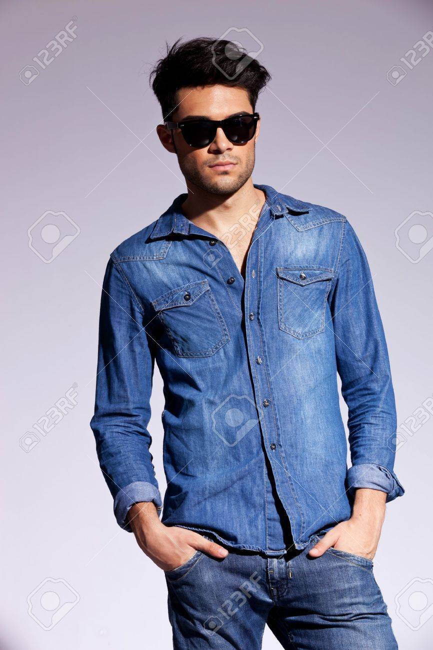 Casual Jeans Shirts For Men Casually in a Jeans Shirt