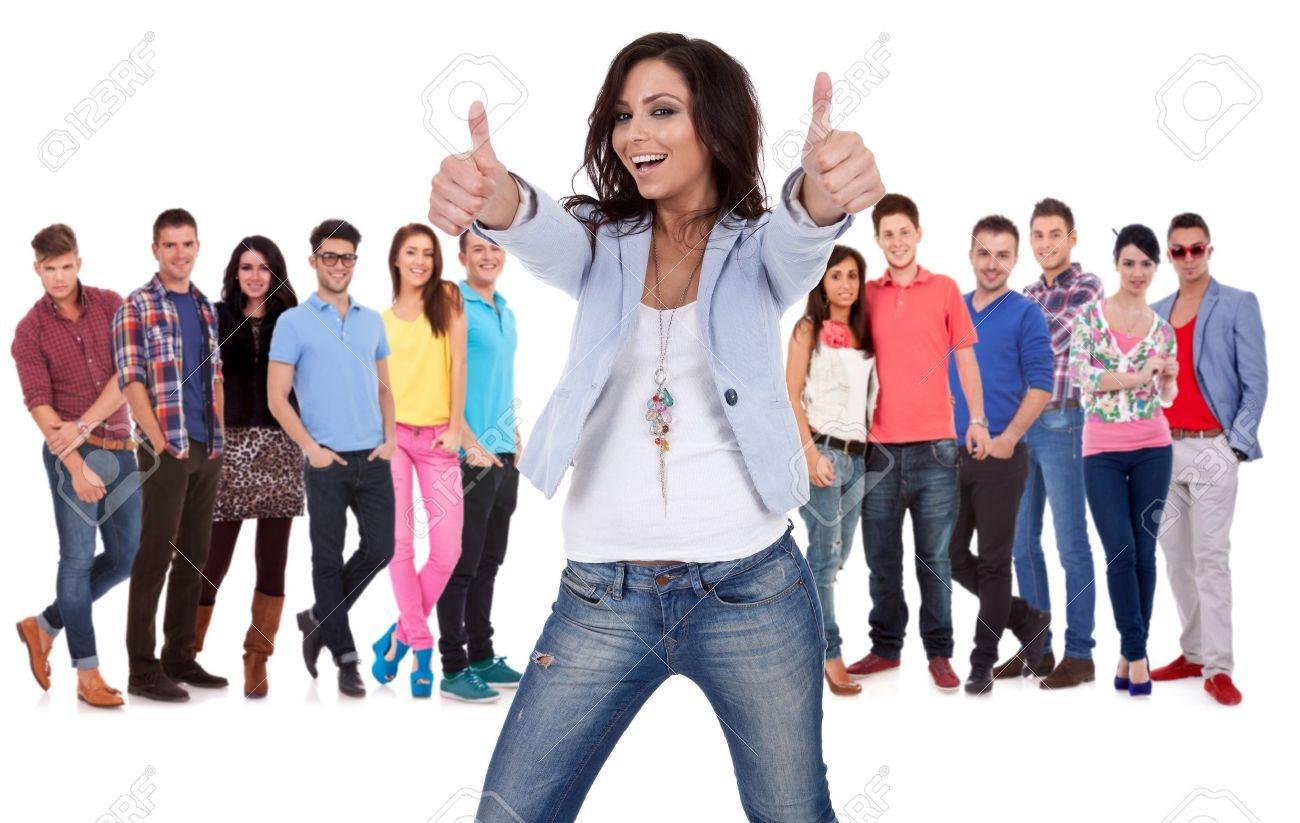 of a group of young people Group Of Young People