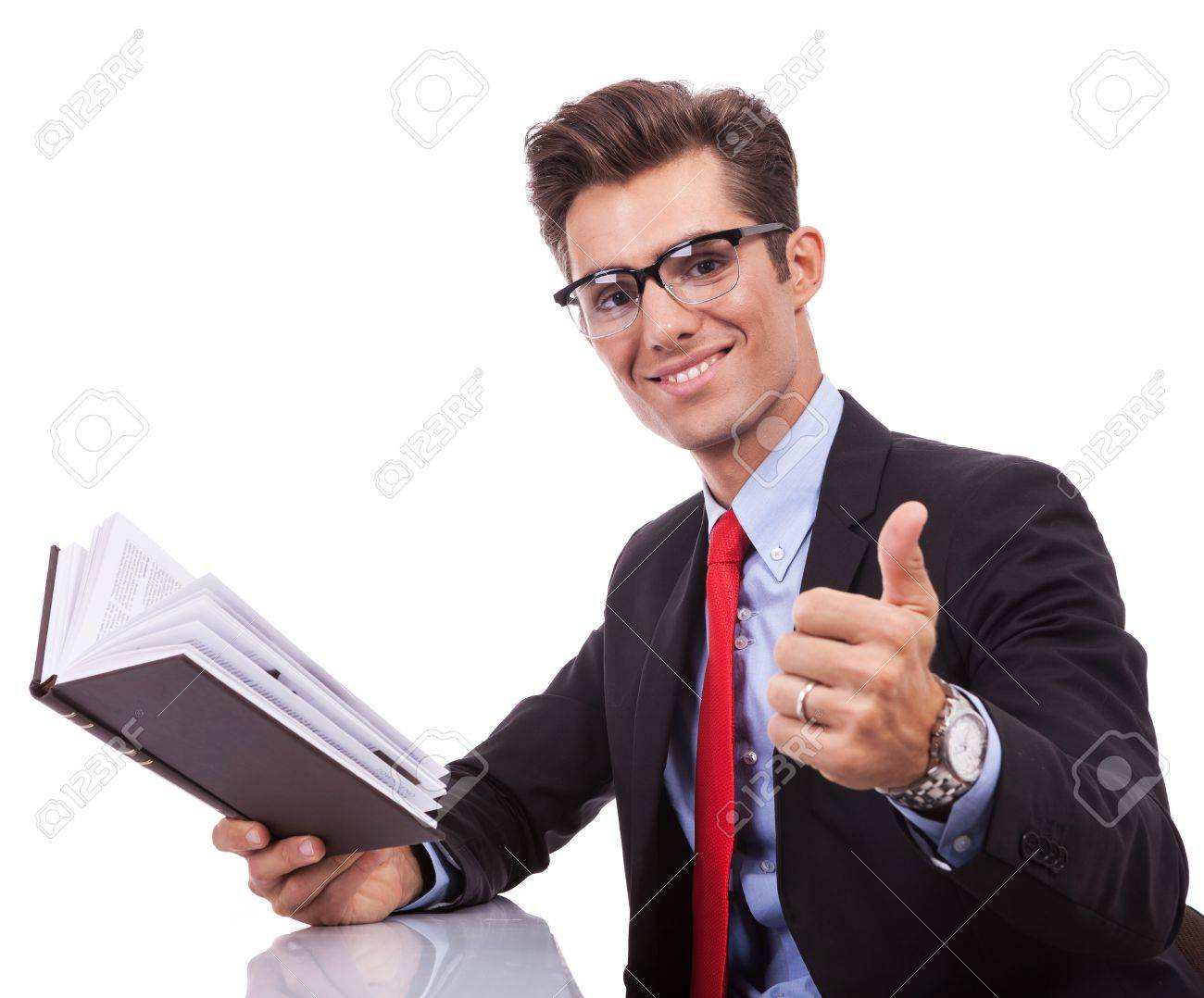 Business Man Reading A Book And Giving The Ok Thumbs Up Gesture Stock Photo Picture And Royalty Free Image Image 15738211 Free weekly top ten models don't miss out receive the weekly top 10 models directly to your inbox.you'll also get exclusive deals only available through our newsletters. business man reading a book and giving the ok thumbs up gesture
