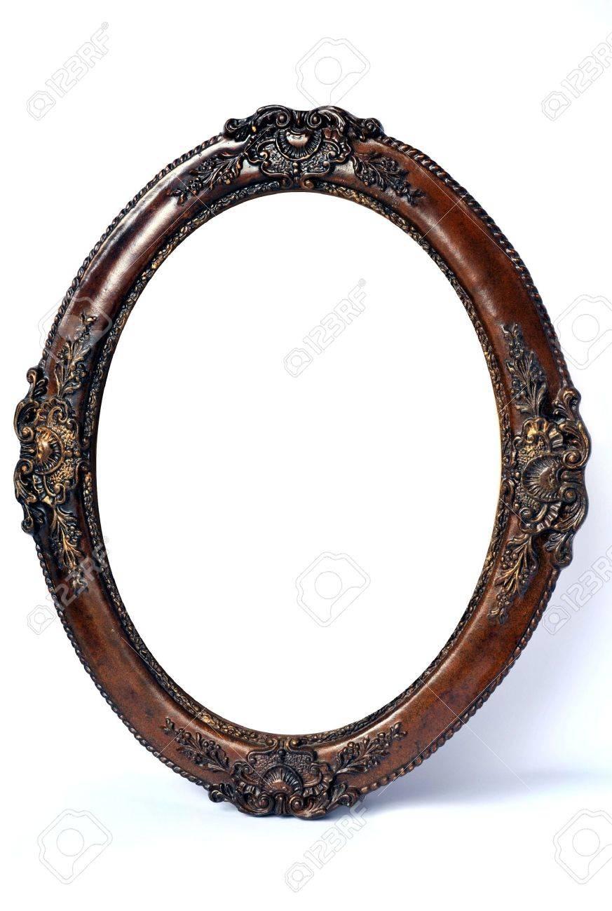 Old style oval wood frame on white stock photo picture and old style oval wood frame on white stock photo 4517706 jeuxipadfo Gallery