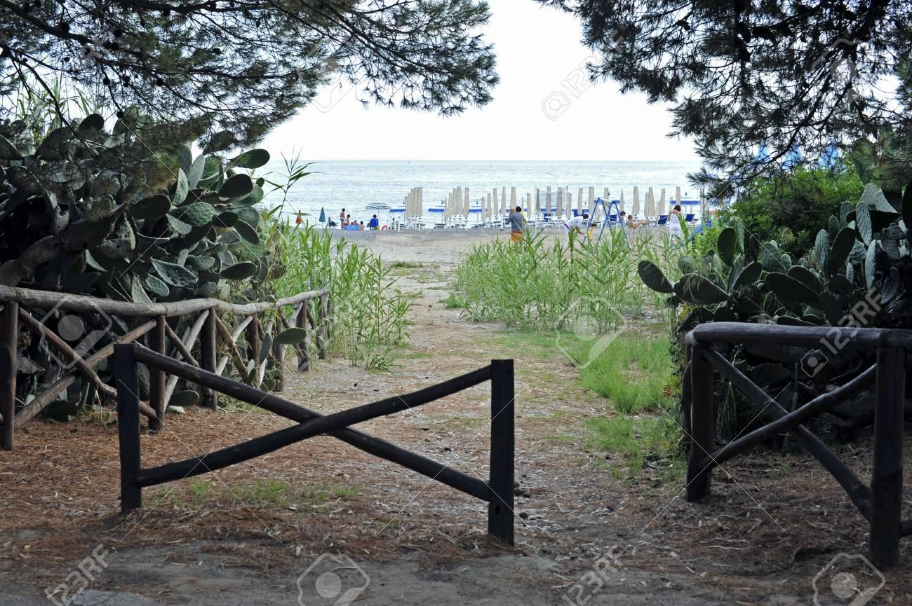 Path to the seaside resort, Cilento coast, Italy (horizontal) Stock Photo - 5280241