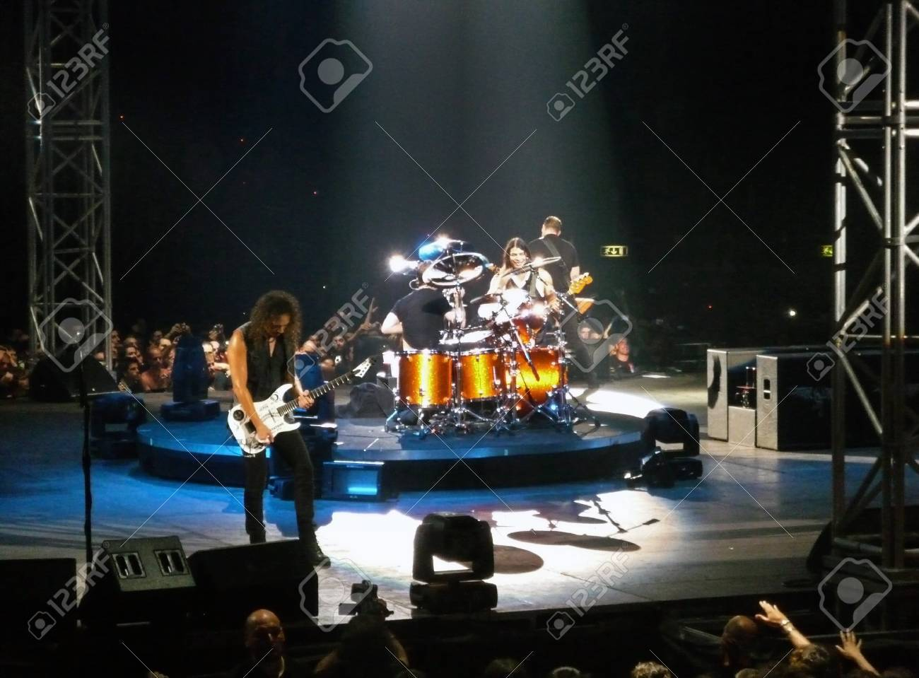 """Concert of the band """"Metallica"""", Rome 24 June, 2009. The stage Stock Photo - 10397434"""