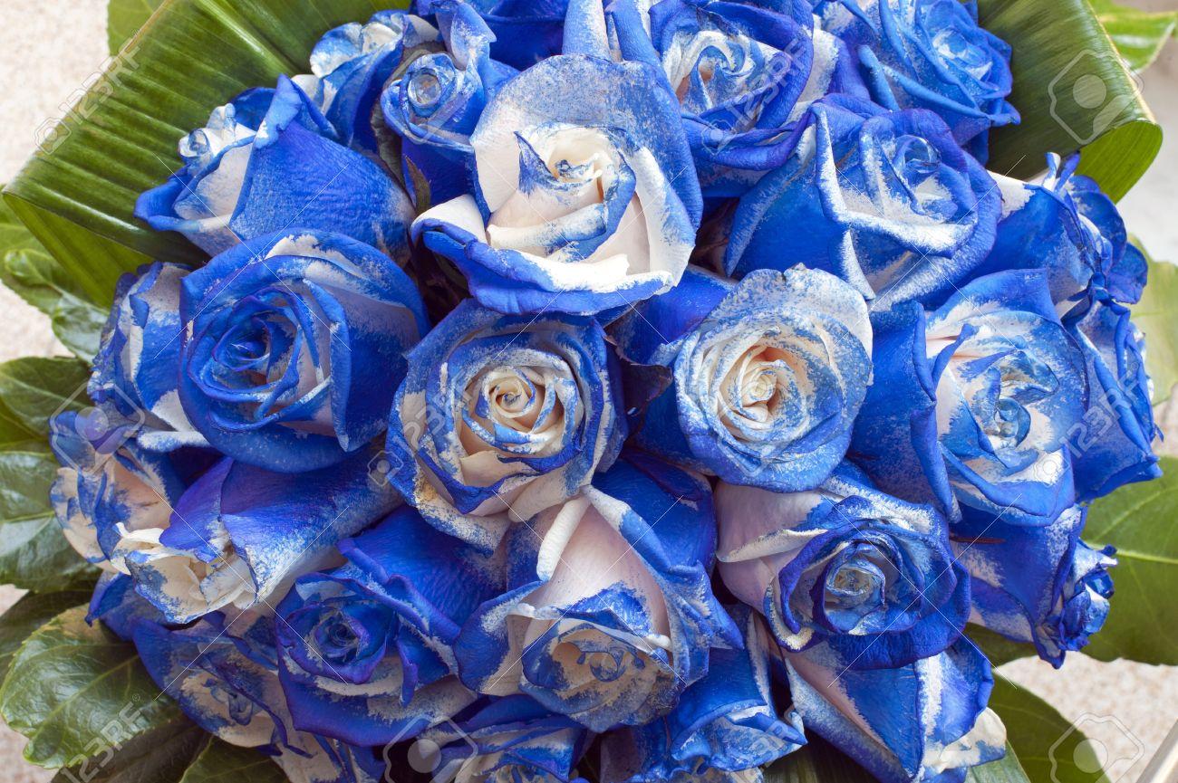 Открытка с синими розами 21