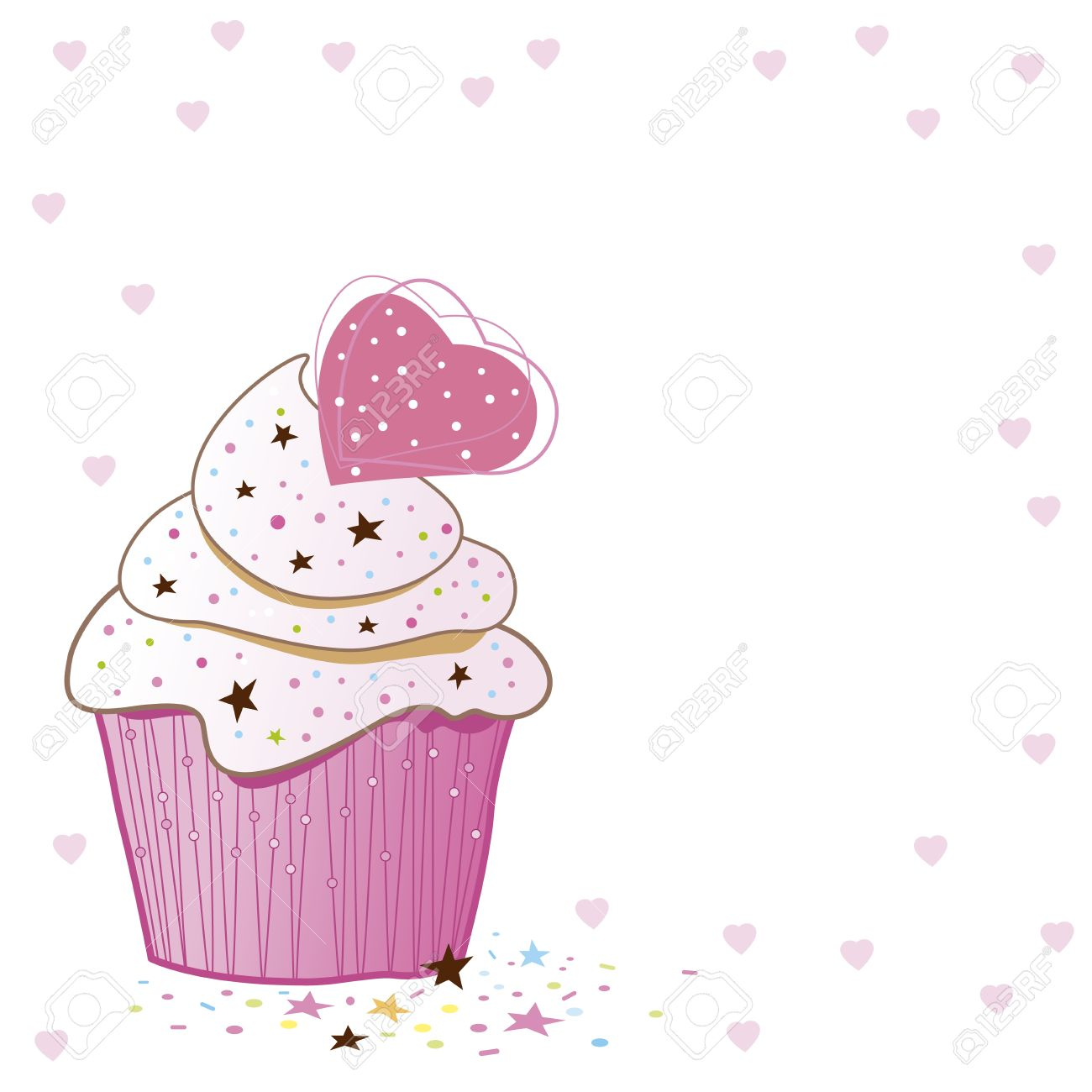 Cupcakes design on white background Stock Vector - 16436403