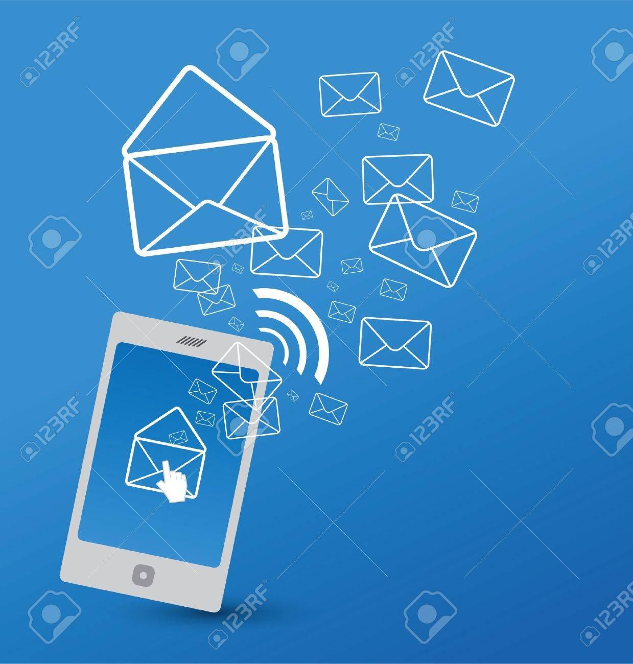 Sending SMS Stock Vector - 19450211