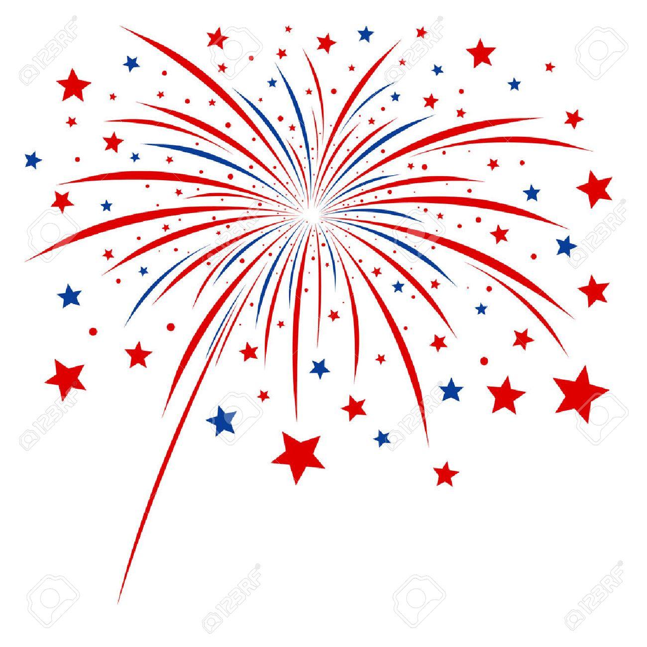 Firework design on white background - 24892836