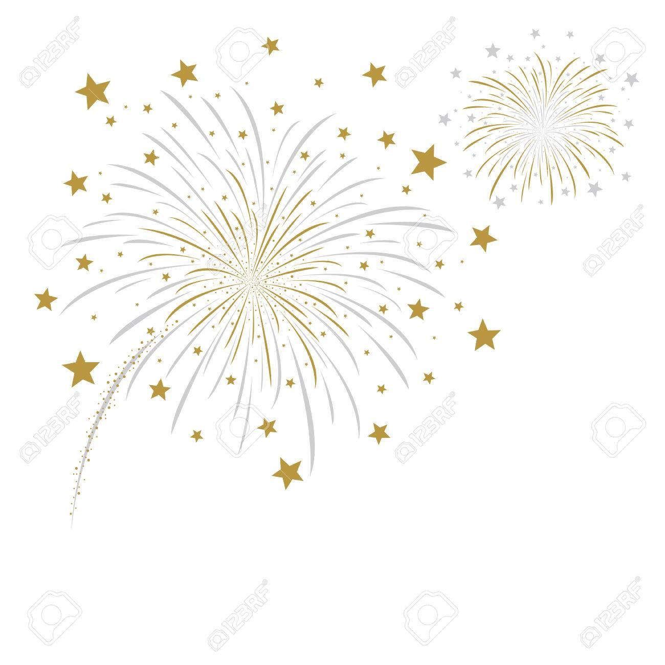 Vector firework design on white background - 44172147