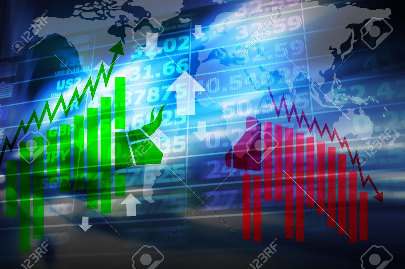 Stock exchange background - 45732599