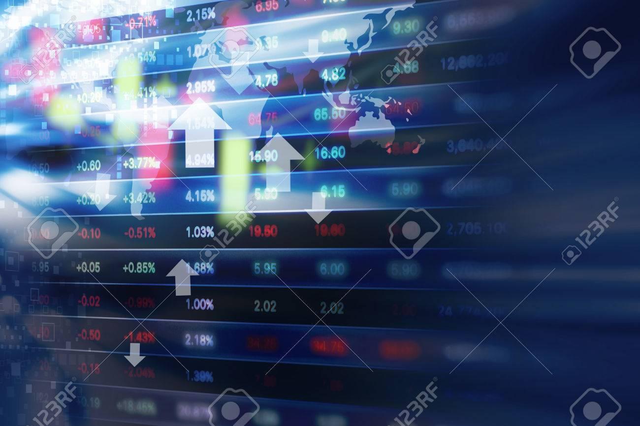 Stock market background design - 52489173