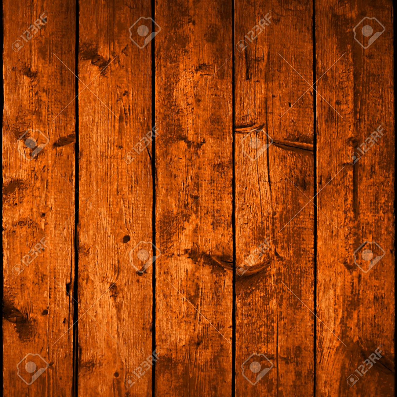 Realistic texture wood planks with natural structure. Empty brown color background square size. Vector illustration design elements save in 10 eps - 61465840