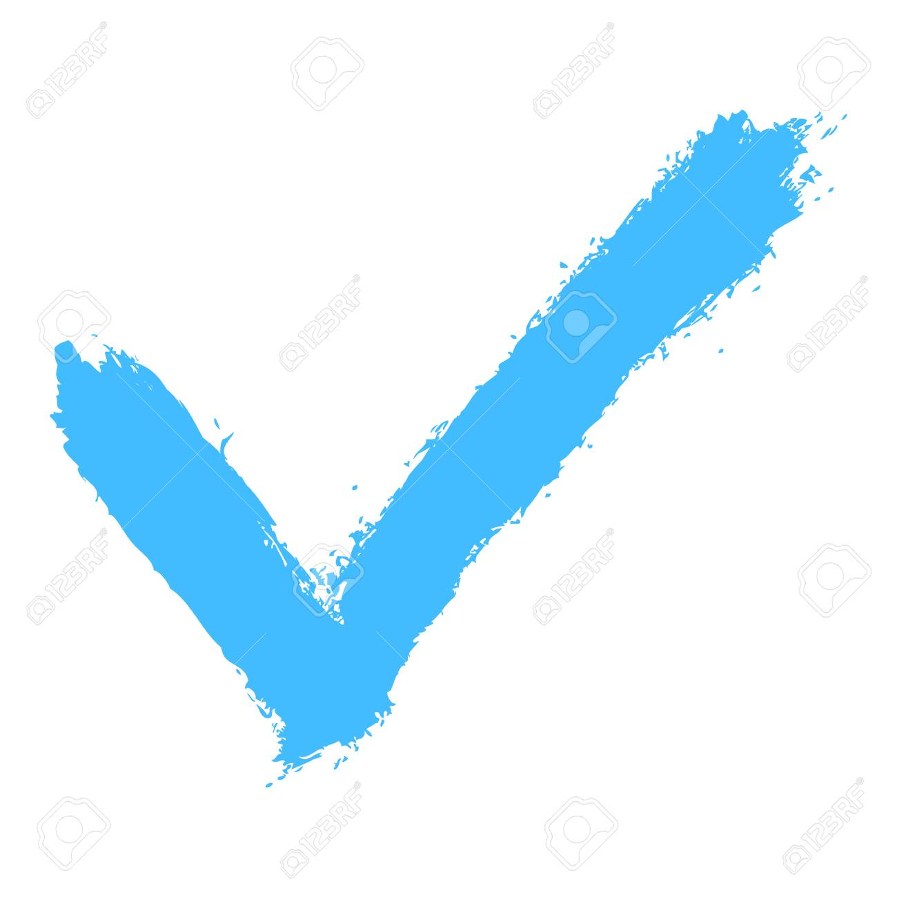 Use It In All Your Designs Check Mark Symbol Made Of Ink Strokes