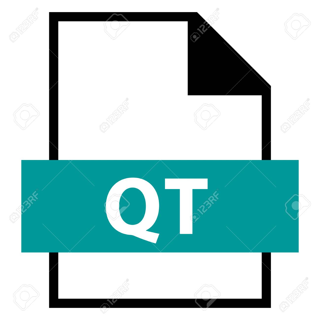 Use it in all your designs  Filename extension icon QT QuickTime