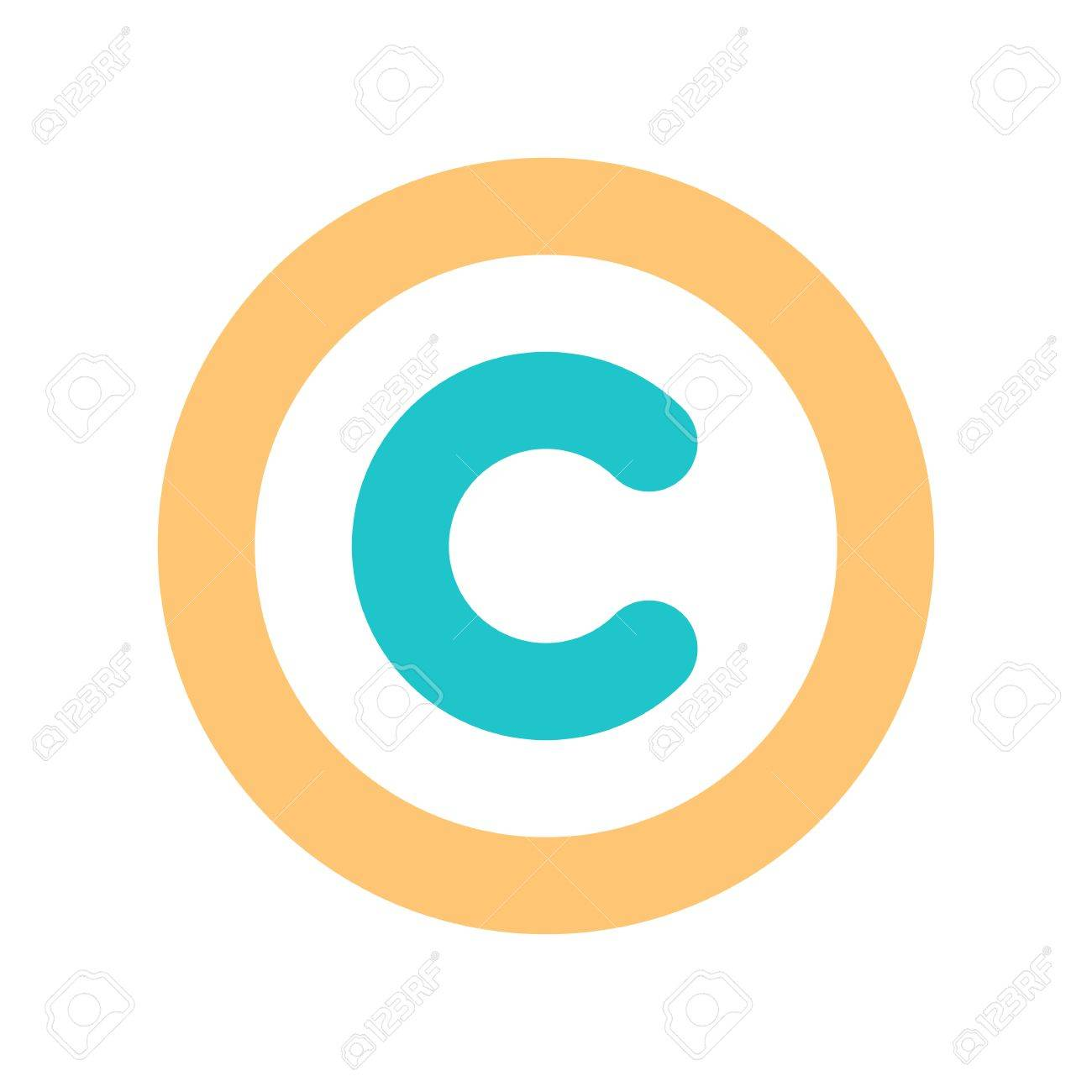The Copyright Symbol A Circled Capital Letter C Flat Style