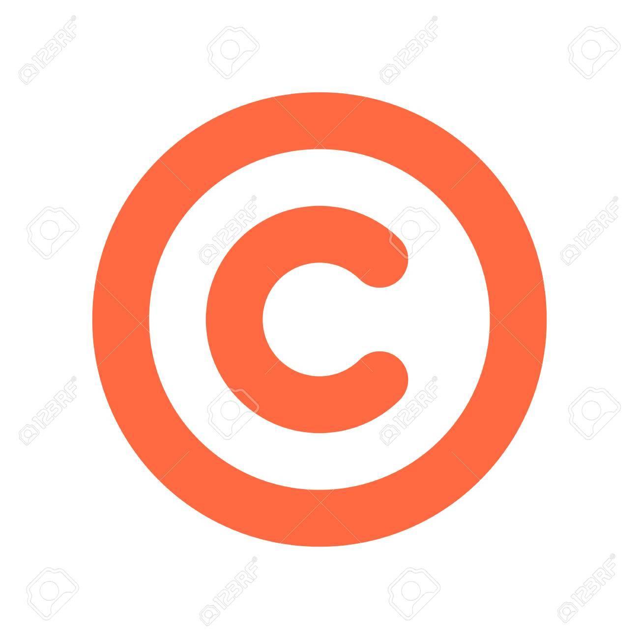 Das Copyright Symbol Ein Eingekreistes Grobuchstabe C Flachen