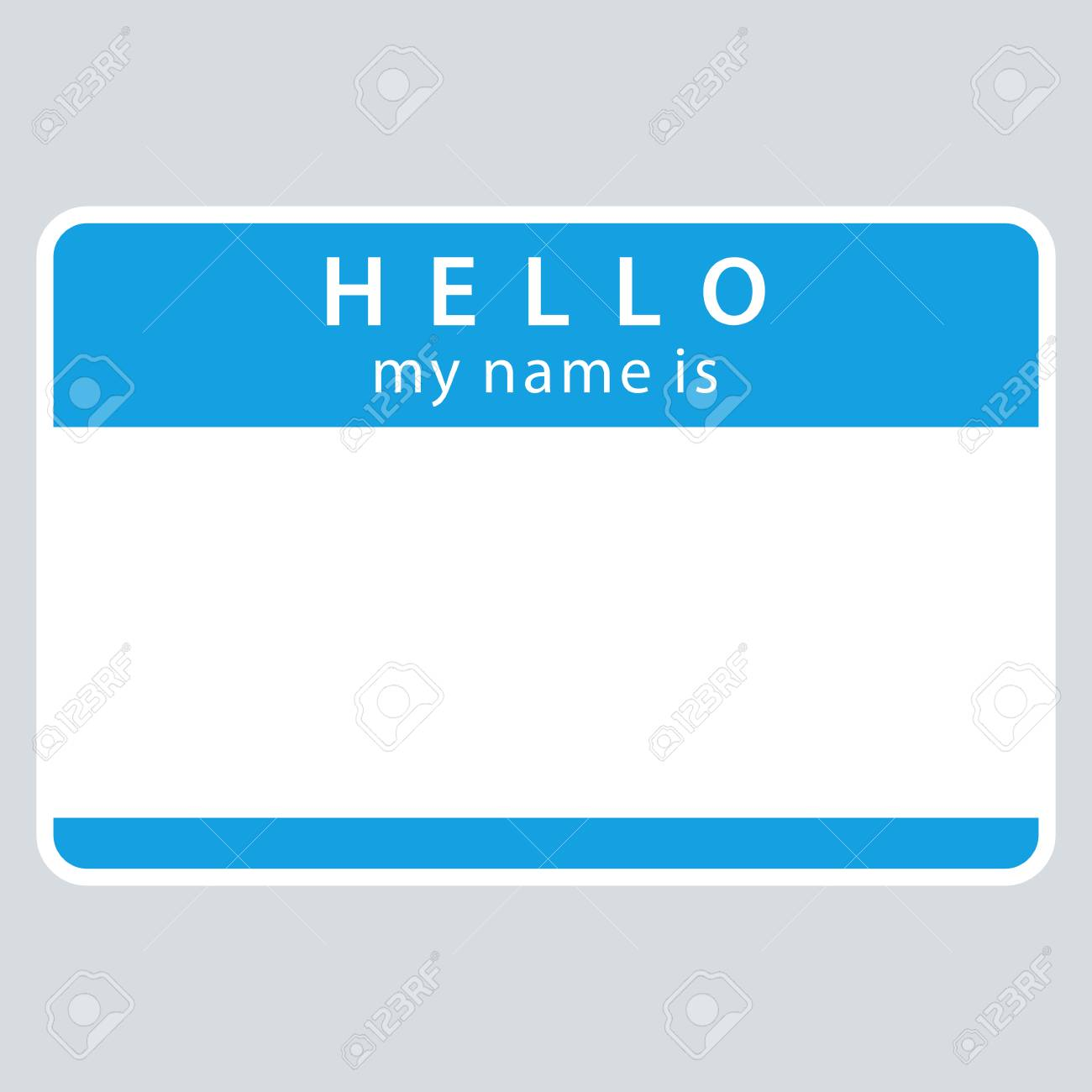 use it in all your designs blue blank name tag sticker hello