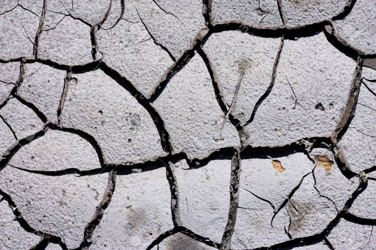 Texture Background Of Dry Cracked Earth Ground Global Shortage Of