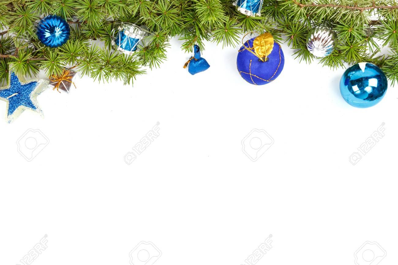 Merveilleuse Decoration De Noel Avec Des Plantes Ornementales Bleu