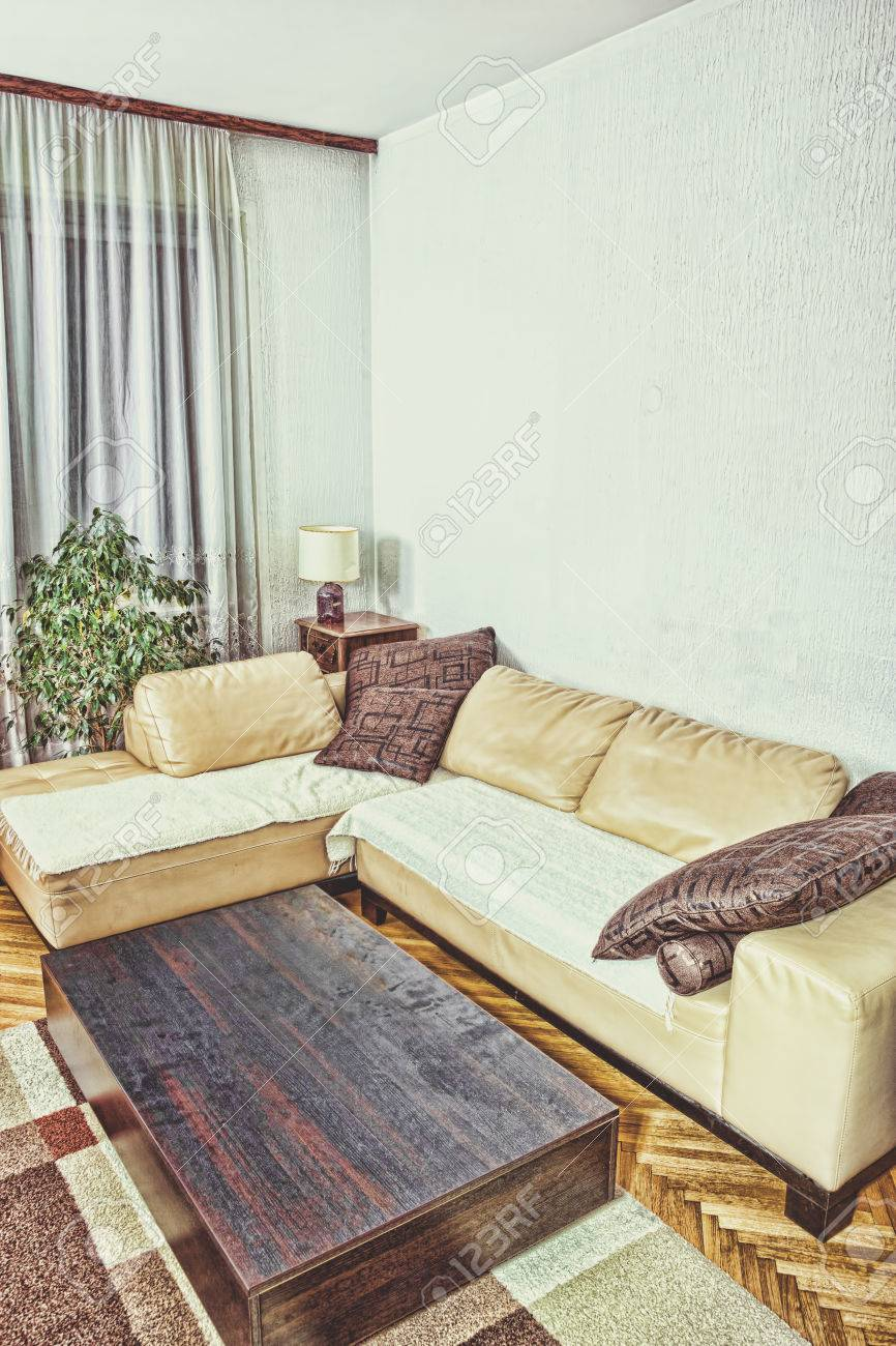 Living Room Or Interior With Modern And Stylish Design With.. Stock ...
